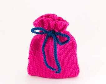 Pink Knitted Gift Bag