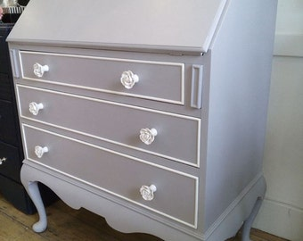 SOLD - Amazing painted Writing Bureau Desk or Dressing Table.