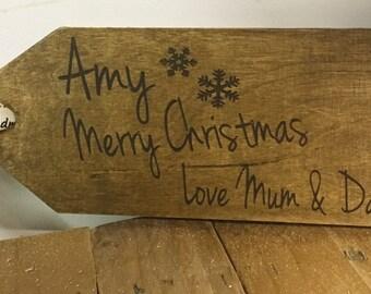 Pretty wooden label