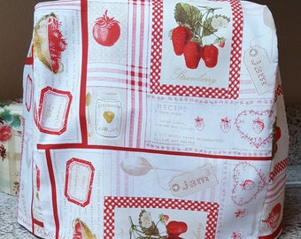 Handmade fabric KitchenAid mixer cover/KitchenAid cover/mixer cover/stand mixer cover/kitchen mixer cover/strawberry kitchen decor/