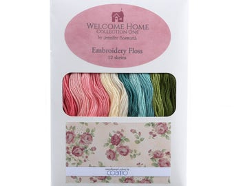 Lecien Welcome Home Collection One Floss Pack 12 skeins by Jennifer Bosworth | 100% cotton | Hand Quilting and Stitching