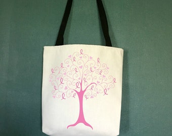 Breast Cancer Survivor Gifts, Breast Cancer Tote Bag, Gifts for Women