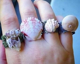 Seashell or Barnacle Mermaid Ring