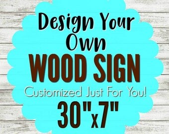 Custom garden signs etsy for Design your own house sign