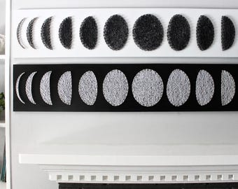 Moon phase wall art, moon phase, modern wall art, black and white, wall art, home decor, wall hanging, modern decor, minimalist decor, art