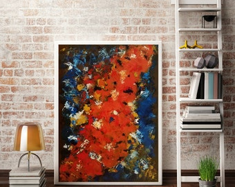 Large Abstract Art Original Textured Painting Contemporary Acrylic Modern Painting Canvas Wall Art Palette Knife Art Home Decor Office Decor