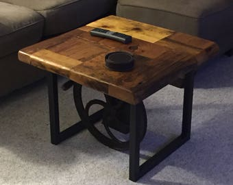 Reclaimed barn board coffee table
