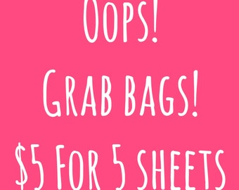 Oops Grab Bag | Ready To Ship Planner Stickers | Fits Most Planners | Mystery Planner Stickers | Misfit Grab Bag