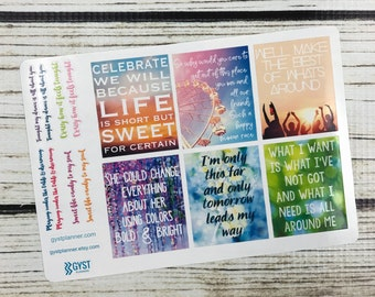 Dave Matthews Band / lyrics / Quotes Stickers / Inspirational Sticker / Fits Erin Condren Planners, Happy Planners, Passion Planners & more!