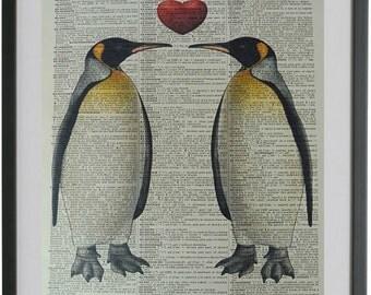 Penguin Print No.18, the penguin, penguin gift, funny bird poster, bird art, girlfriend gift, boyfriend gift