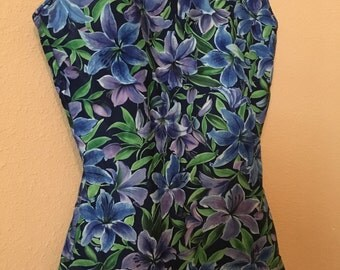 90s Tropical Skirt-front One Piece by Ocean