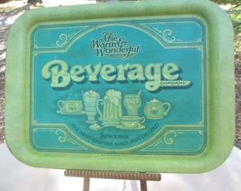 Vintage Beverage Company Tray, The Warm & Wonderful Drink Tray
