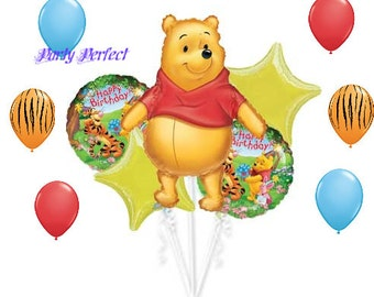 Winnie the Pooh 11 pc Birthday party Balloons Decorations Supplies