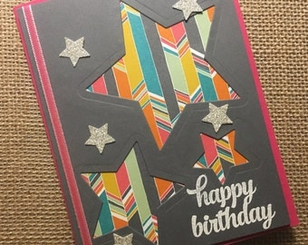 Happy Birthday Cards / Birthday Cards - Handmade Greeting Cards - Stampin Up Greeting Cards - Personalized Greeting Cards