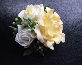 Dog Collar Attachment Vintage Yellow Flower Girl Wedding Birthday Photo Prop