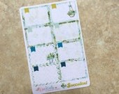 SUCCULENT Half Box Planner Stickers: Suitable for All Planner Types. inkWELL Press Planner Stickers LucKaty