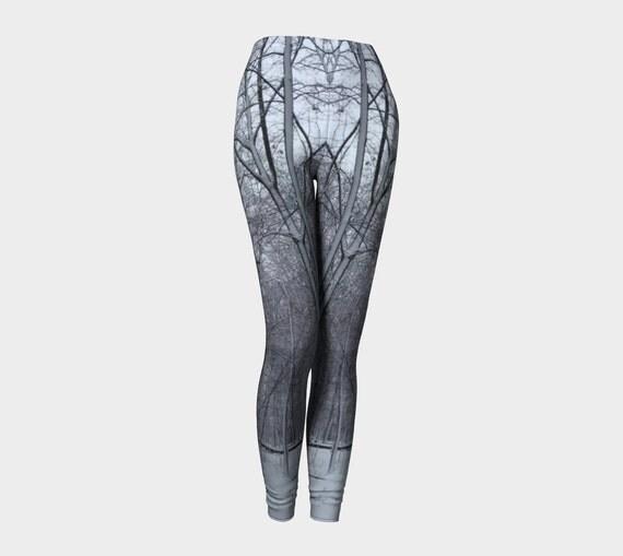 High Waisted Leggings, Wearable Art, Yoga Leggings, Canadian Photography, Meditation Clothing, Eco Clothing