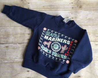 Vintage Kids Mariners Sweatshirt - 12 months  - Childrens Small - 1980's - USA