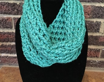 Teal inifinity scarf