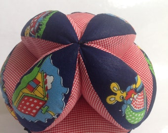 Blue/red Puzzle Soft Cloth Baby Ball