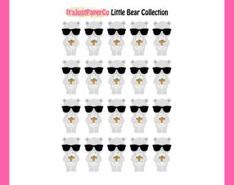 Little Bear - Tired/ Coffee Stickers