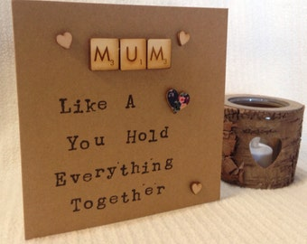 Mum birthday card, mums are like buttons , buttons quote mum, mummy birthday card, mum quote , mum like a button, rustic mum card