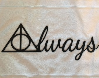 "Metal Wall Sign ""ALWAYS"" (Harry Potter Deathly Hallows)"