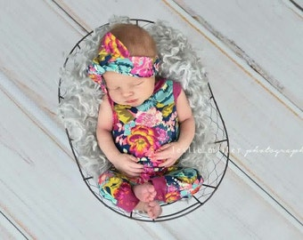 Baby romper / toddler romper / girls romper / romper / floral romper / summer romper / first birthday romper / first birthday outfit