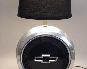 Chevy Hub Cap Lamp - Vintage