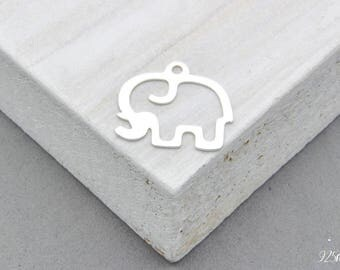 925 Sterling Silver Elephant Charm, Silver Elephant, Elephant Pedant, Silver Charm, Silver Elephant Charm, Elephant, Elephant, Silver 925
