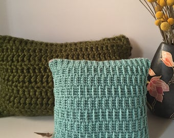 """Handmade Crochet Throw Pillow 11"""""""
