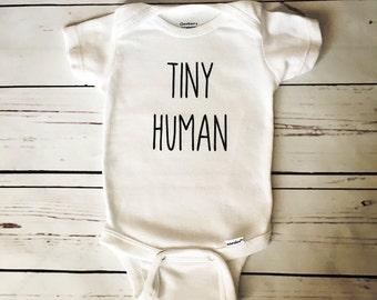 Tiny Human Onesie, Tiny Human Bodysuit, Baby Onesie, Baby Bodysuit, Newborn Onesie, Baby Shower Gift, Custom Onesie, Gender Neutral Onesie
