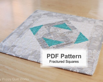 Table Topper PDF Pattern, Quilted Runner Sewing Pattern, Easy Quilting Project Instructions, Downloadable Quilt Pattern, Candle Mat Pattern