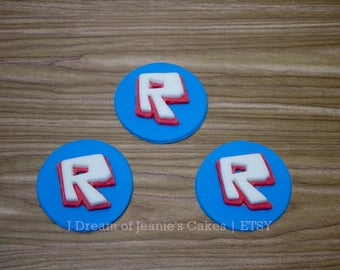 ROBLOX Video Gamer Birthday Cupcake Toppers