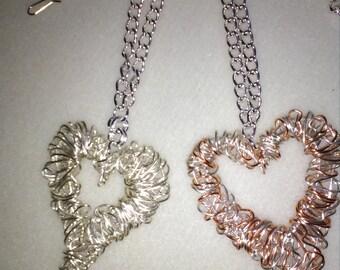 Hammered Wire Heart