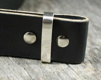 Sterling Silver Belt Keeper