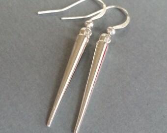 Silver Spikes II . Earrings