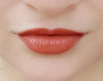 Nudist Peach - NATURAL VEGAN soft semi-matte moisturizing lipstick