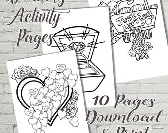 Mr and Mrs Digital Download, kids activity pack, childens wedding pack, printable activity book
