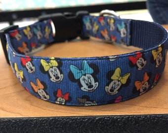 Colorful Minnie Bow 1 inch Collar