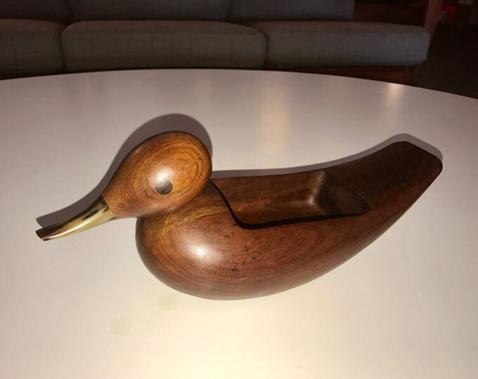 RARE Carl Auböck Wooden Carved Duck Valet