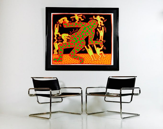 SOLD Original Pop Artist Keith Haring Fertility Pencil Signed Dated and Numbered Serigraph