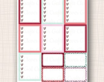 Full Box Planner Stickers | Flirty Checklists | 11 Stickers Total | #SP1801