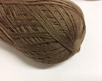 1400 meters 100g Shawl yarn Cobweb yarn haapsalu yarn wool yarn lace yarn laceweight yarn shawl yarn knitting  cobweb brown