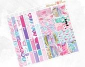 Sugar & Dreams Large Kit - Matte or Glossy Erin Condren Planner Stickers -