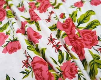 """Decorative Cotton Fabric For Sewing Designer Floral Print Designer White Pure Cotton Drape Fabric 41"""" Wide Sew Quilt By 1 Yard ZBC6256"""