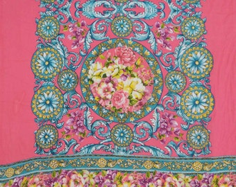 "Dressmaking Cotton Fabric For Sewing Designer Pink Cotton Fabric 44"" Wide Dressmaking Fabric Floral Sewing Craft By 1 Piece Yard ZBC6742"