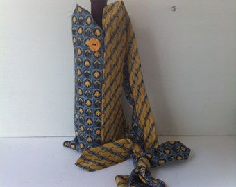 Wine or Water Bag - Recycled Silk Ties -