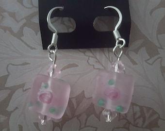 Pink Frost Earrings