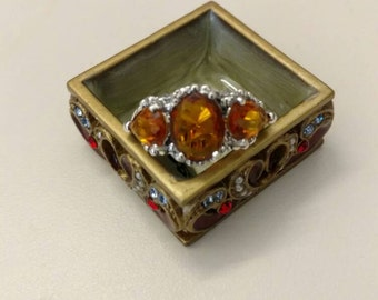 Golden Citrine Ring. Size 8
